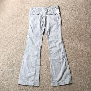 Gray bootcut jeans